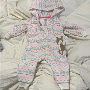 Fleece Hooded onesie